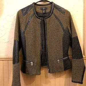 Women's H&M Knit/Leather Jacket